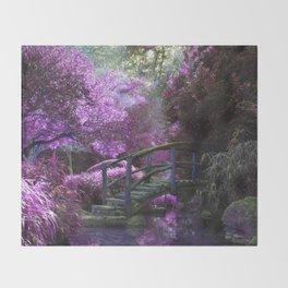 Monet's Garden (Color) Throw Blanket