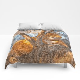 Ginger Cheshire Cat Comforters