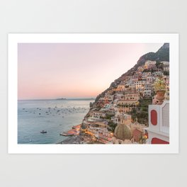 Positano at Dusk Art Print