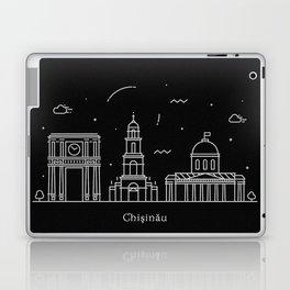 Chişinău Minimal Nightscape / Skyline Drawing Laptop & iPad Skin