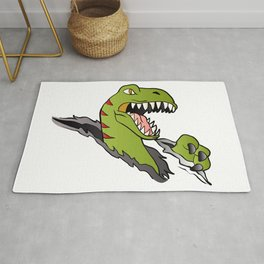 Velociraptor Dinosaur Rug