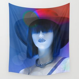 Ms Red White And Blue Wall Tapestry