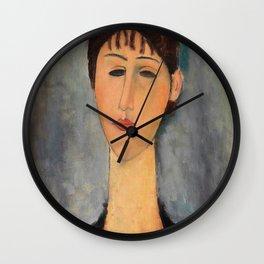 Amedeo Modigliani - Portrait Of Mme Zborowska - Digital Remastered Edition Wall Clock