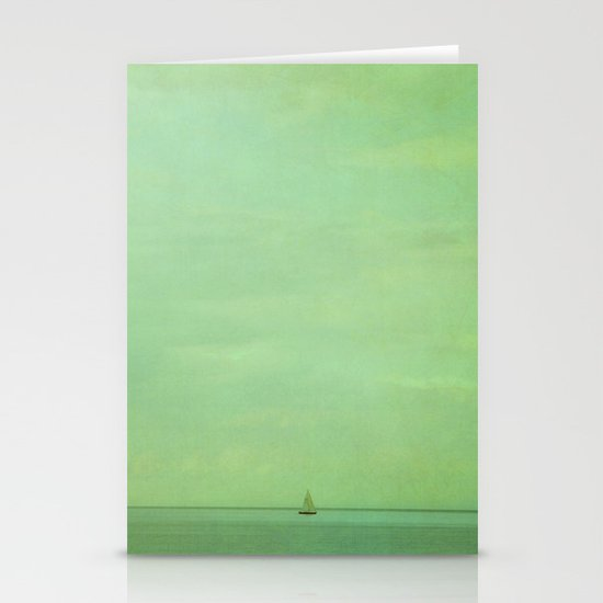 lost in green Stationery Cards