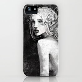 Lavellan black and white iPhone Case