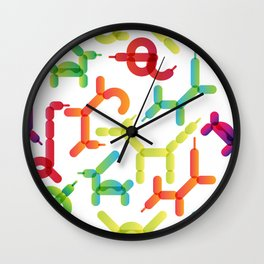 Balloon animals pattern #2 Wall Clock