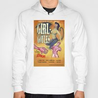 "movie posters Hoodies featuring ""Girl-Goyles"" Movie Poster by 7 Hells: Retro Horror art of Bill Rude"