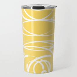 Yellow Flow 2 Travel Mug