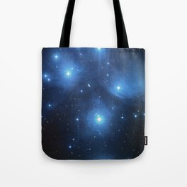 Seven Sisters Star Cluster Pleiades Messier 45 Tote Bag