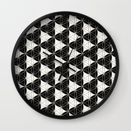 Triad Pattern Black-White Wall Clock
