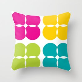Colorful Bejeweled Circles Throw Pillow