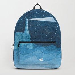 Lighthouse illustration Backpack