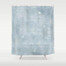 Distressed Chambray Denim Shower Curtain