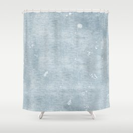 distressed chambray denim Shower Curtain