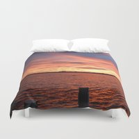 florida Duvet Covers featuring Florida Sunset by minx267