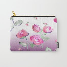 watercolor rose buds Carry-All Pouch