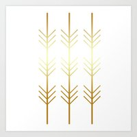 stay gold Art Prints featuring stay gold by Reckless Crush