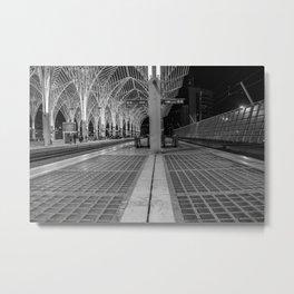 Oriente train station in Lisbon Metal Print