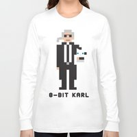 karl lagerfeld Long Sleeve T-shirts featuring 8 Bit Karl by 8 Bit Icons