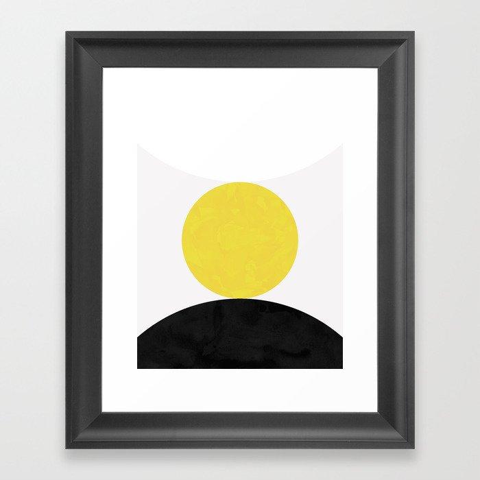 Solar Eclipse Gerahmter Kunstdruck