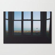 Seaside motel Canvas Print