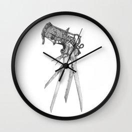 Scissorhands(BW-R) Wall Clock
