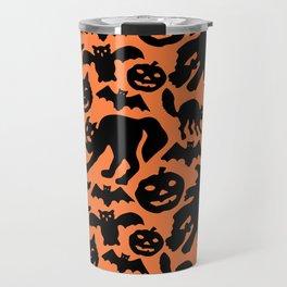 Retro Halloween Silhouettes Travel Mug
