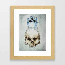 Skull Brained Framed Art Print