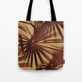 Burgundy and Coffee Tropical Beach Palm Vector Tote Bag