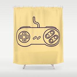 Super Nintendo Controller - Retro Style.  Shower Curtain