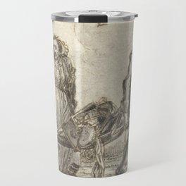 Adriaen Pietersz van de Venne - Man en een vrouw dragen huisraad op een berrie Travel Mug