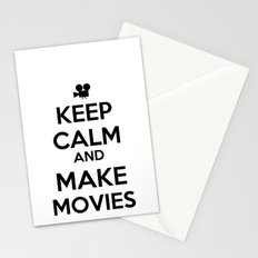 Keep Calm And Make Movies Stationery Cards