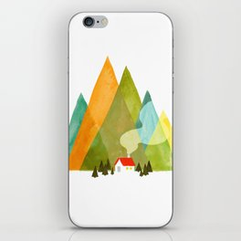 House at the foot of the mountains iPhone Skin