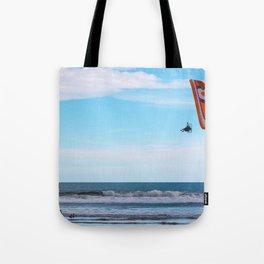 Flying Man Tote Bag