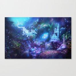 Water Dragon Kingdom Canvas Print