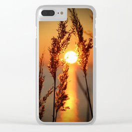 Sunset over the sea Clear iPhone Case