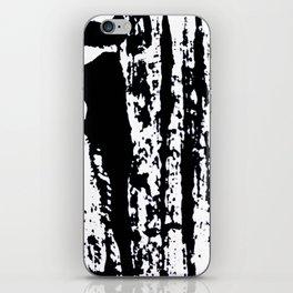 Blank: a minimal black and white linoprint iPhone Skin