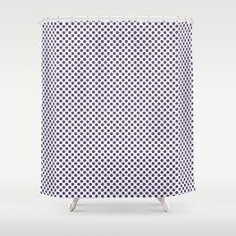 Gentian Violet Polka Dots Shower Curtain