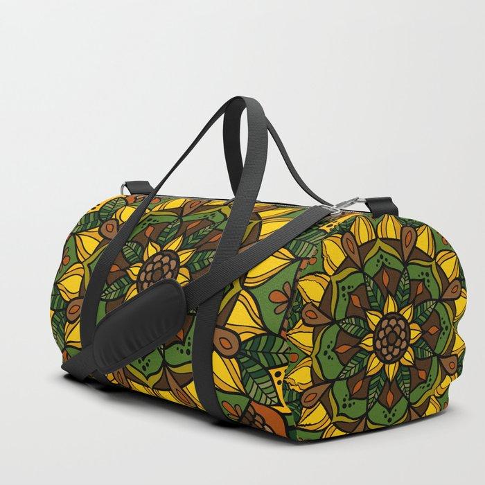 Sunflower Mandala Duffle Bag
