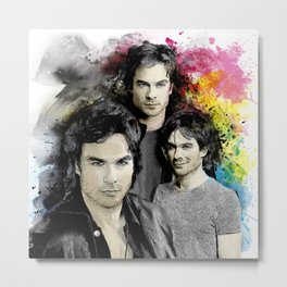 Inspired by Damon Salvatore and the Vampire Diaries Metal Print