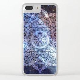 Dreamer Nebula Mandala Clear iPhone Case