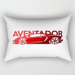 Lamborghini Aventador - classic red - Rectangular Pillow