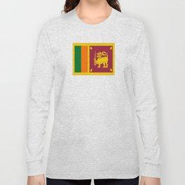 Flag of sri Lanka -ceylon,India, Asia,Sinhalese, Tamil,Pali,Buddhist,hindouist,Colombo,Moratuwa,tea Long Sleeve T-shirt