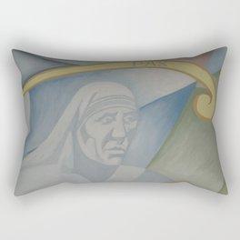 Mural peace Mother Teresa of Calcutta Rectangular Pillow