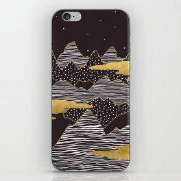 Gold Mountain Peaks iPhone Skin