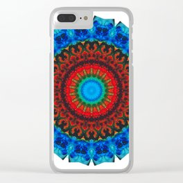Inner Peace - Kaliedescope Mandala By Sharon Cummings Clear iPhone Case