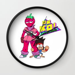 OK KO! with Head strawberry Wall Clock