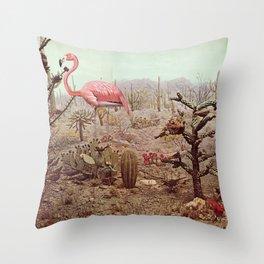 Wild Flamingo Throw Pillow