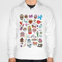 stickers Hoodies featuring I Love Stickers by Jade Boylan