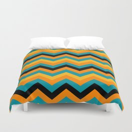 Southwestern Colors Chevron Pattern Duvet Cover